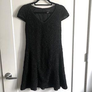 Club Monaco Black Lace Cocktail Cap Sleeve Dress